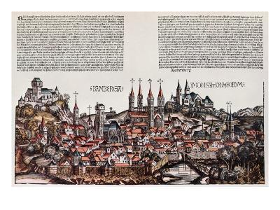 The City of Bamberg, from the 'Liber Chronicarum', by Hartmann Schedel, 1493-German School-Giclee Print