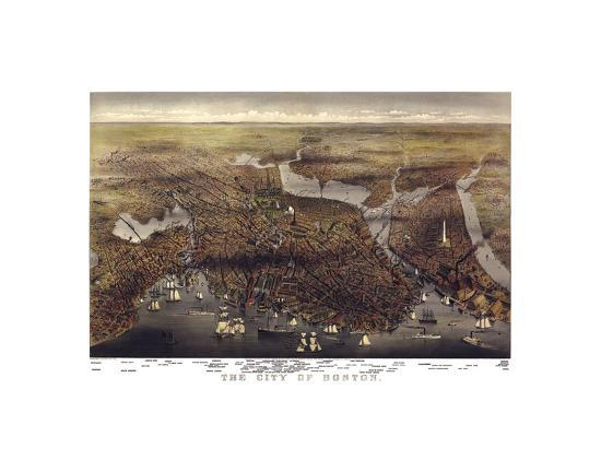 The City of Boston, Massachusetts, 1873-Parsons and Atwater-Art Print