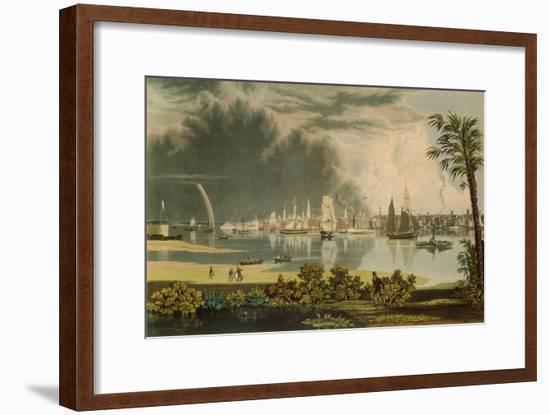 The City of Charleston, Engraved by W.J. Bennett, 1838-George Cooke-Framed Premium Giclee Print
