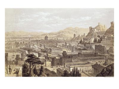 The City of Ephesus from Mount Coressus, 1859-E. Falkener-Giclee Print