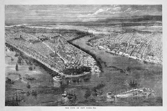 The City of New York, 1855-The Vintage Collection-Giclee Print