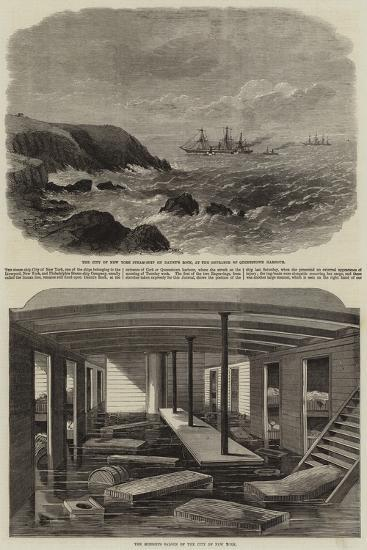 The City of New York Steamship--Giclee Print