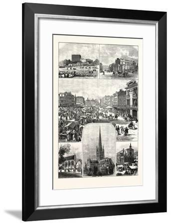 The City of Norwich, 1876, UK--Framed Giclee Print