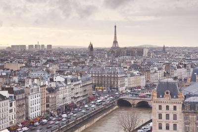 The City of Paris as Seen from Notre Dame Cathedral, Paris, France, Europe-Julian Elliott-Photographic Print