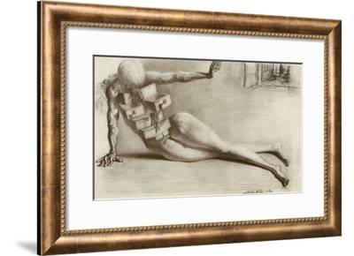 The City of the Drawers-Salvador Dalí-Framed Art Print