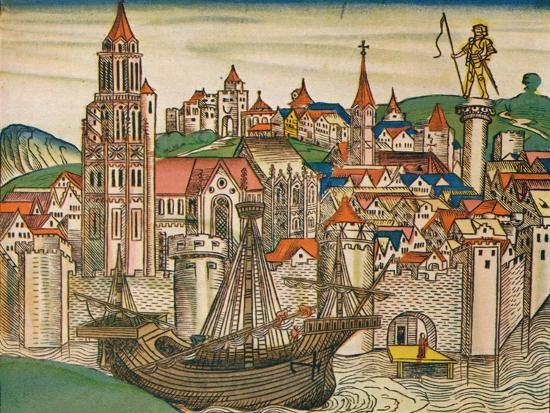 'The City of Treviso with a Carrack', 1493-Unknown-Giclee Print