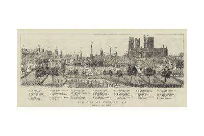 The City of York in 1738--Giclee Print