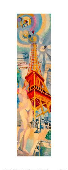 The City Paris. The Woman and the Tower, 1925-Robert Delaunay-Giclee Print