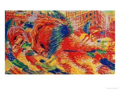 The City Rises, 1911-Umberto Boccioni-Giclee Print