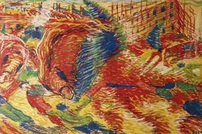 The City Rises-Umberto Boccioni-Giclee Print
