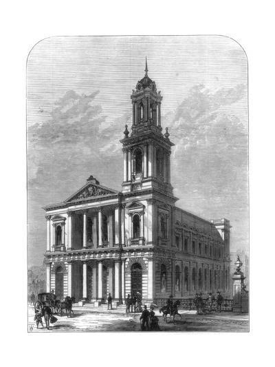 The City Temple, Holborn Viaduct, London, 1875--Giclee Print