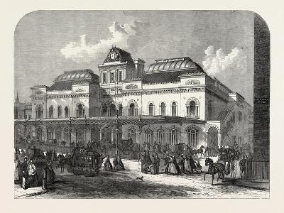 The City Terminus, in Liverpool Street, of the North London Railway, London, UK, 1865--Giclee Print