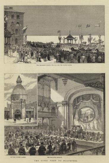 The Civic Visit to Blackpool--Giclee Print