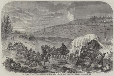The Civil War in America, Baggage-Waggons and Gun-Carriages of the Army of the Potomac on the Move--Giclee Print