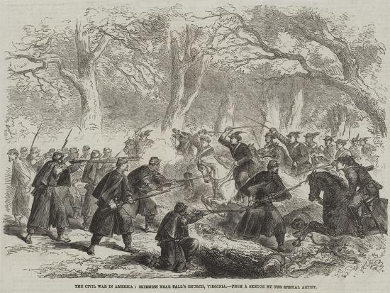 The Civil War in America, Skirmish Near Fall's Church, Virginia--Giclee Print