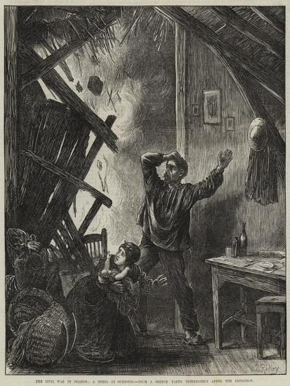 The Civil War in France, a Shell at Suresnes-Matthew White Ridley-Giclee Print