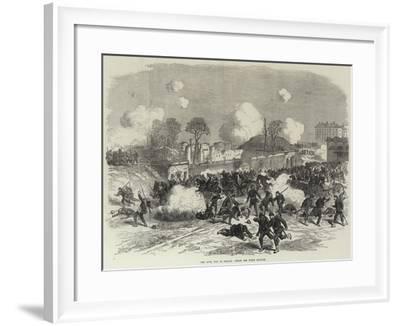 The Civil War in France, Inside the Porte Maillot--Framed Giclee Print