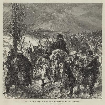 The Civil War in Spain, a Navarre Column of Carlists on the March to Carascal-Charles Robinson-Giclee Print