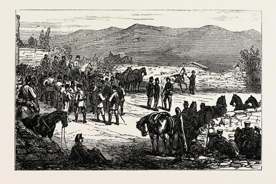 The Civil War in Spain: Serrano and His Staff at Montellano--Giclee Print