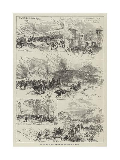 The Civil War in Spain, Sketches from the Battle of San Marcos-Charles Robinson-Giclee Print