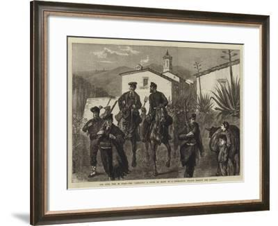 The Civil War in Spain, the Somaten, a Levee En Masse of a Catalonian Village Against the Carlists-Joseph Nash-Framed Giclee Print