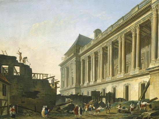 The Clearing of the Louvre Colonnade in Paris, 1764-Pierre-Auguste Renoir-Giclee Print