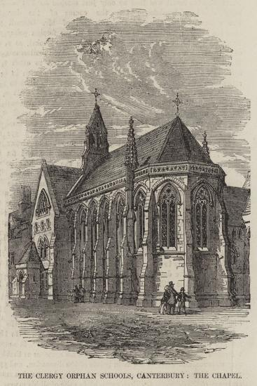 The Clergy Orphan Schools, Canterbury, the Chapel--Giclee Print