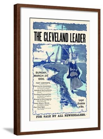 The Cleveland Leader, Sunday March 29, 1896--Framed Art Print