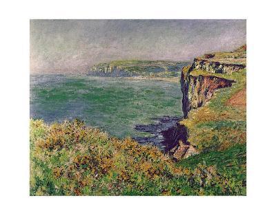 The Cliff at Varengeville, c.1882-Claude Monet-Art Print