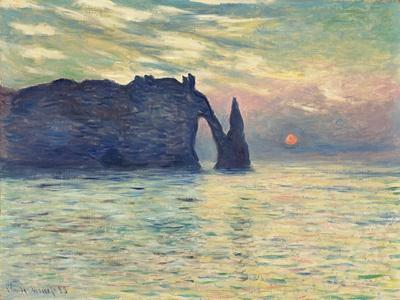 The Cliff, Étretat, Sunset. 1882-83-Claude Monet-Giclee Print