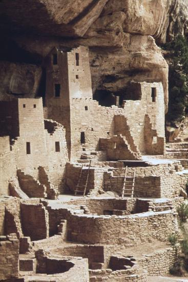 The Cliff Palace at the Mesa Verde Was Inhabited in the 12-13th Centuries--Photo