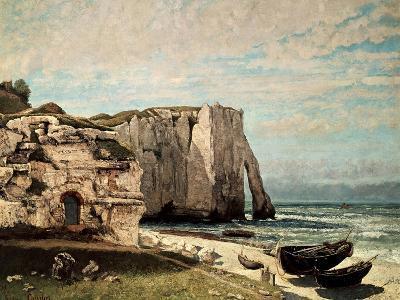 The Cliffs at Etretat after the Storm, 1870-Gustave Courbet-Giclee Print