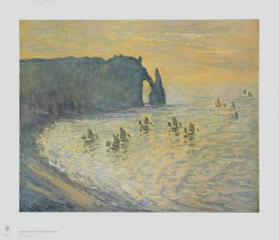 The Cliffs at Etretat-Claude Monet-Collectable Print
