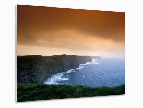 The Cliffs of Moher, County Clare, Ireland-Brent Bergherm-Metal Print