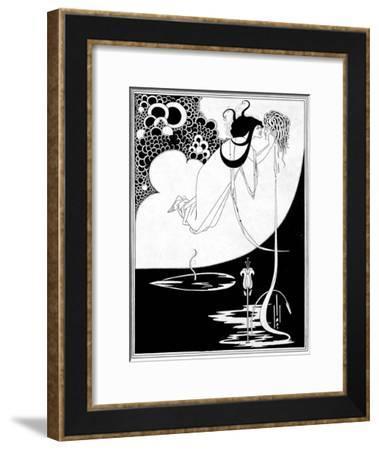 "The Climax, Illustration from ""Salome"" by Oscar Wilde, 1893-Aubrey Beardsley-Framed Giclee Print"