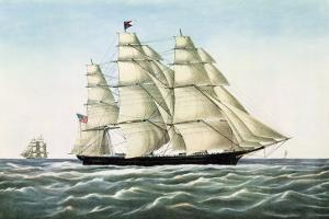"The Clipper Ship ""Flying Cloud"", Published by Currier and Ives, 1852"