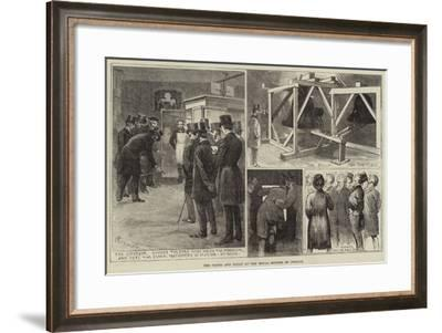 The Clock and Bells at the Royal Courts of Justice-Alfred Courbould-Framed Giclee Print