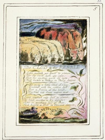 The Clod and the Pebble: Plate 33 from Songs of Innocence and of Experience C.1802-08-William Blake-Giclee Print