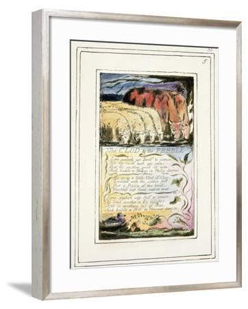 The Clod and the Pebble: Plate 33 from Songs of Innocence and of Experience C.1802-08-William Blake-Framed Giclee Print
