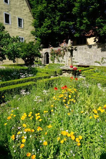 The Cloister Garden, Rothenburg Ob Der Tauber, Romantic Road, Franconia, Bavaria, Germany, Europe-Robert Harding-Photographic Print