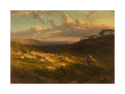 The Closing Day, Scene in Sussex, 1872-George Vicat Cole-Giclee Print
