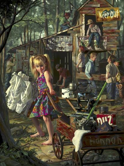 The Clubhouse-Bob Byerley-Giclee Print