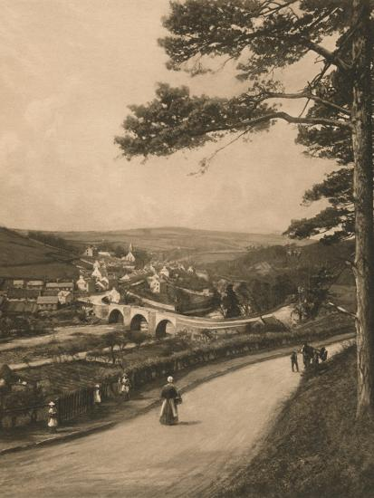 'The Clyde at Kirkfieldbank, from the Braes near Lanark', 1902-Unknown-Photographic Print