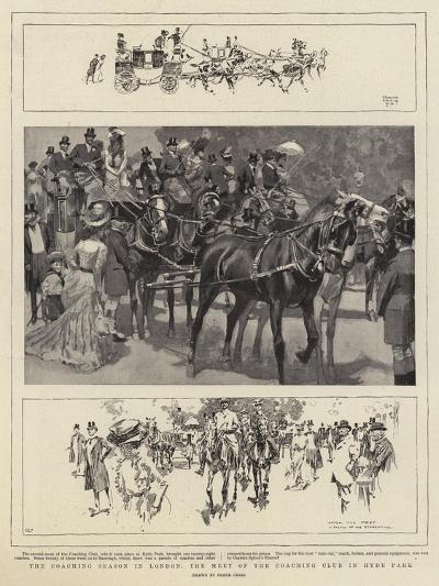 The Coaching Season in London, the Meet of the Coaching Club in Hyde Park-Frank Craig-Giclee Print