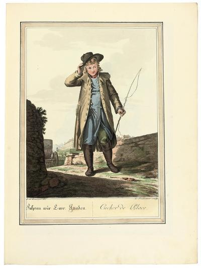 The Coachman; Cocher De Place, 1781 or Later-Johann Christian Brand-Giclee Print