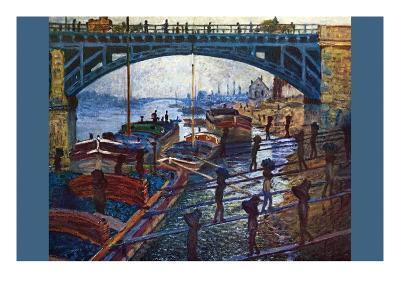 The Coal Carrier-Claude Monet-Art Print