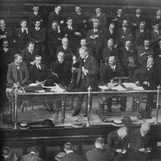 'The Coal Strike: Mr. Lloyd George addressing the miners' representatives at Cardiff', 1915-Unknown-Photographic Print