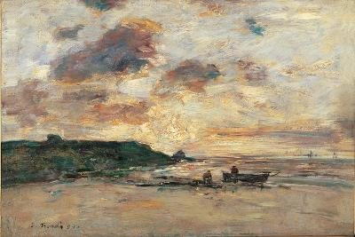 The Coast at Trouville-Eug?ne Boudin-Giclee Print
