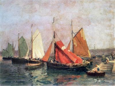The Coast of Breton, C1907-1915-Leon Hubert-Giclee Print