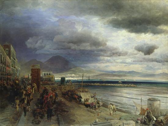 The Coast of Naples, 1877-Andreas Achenbach-Giclee Print